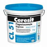 Гидроизоляционная смесь Церезит CL-51 Экспресс (Ceresit CL-51 Express) 7 кг