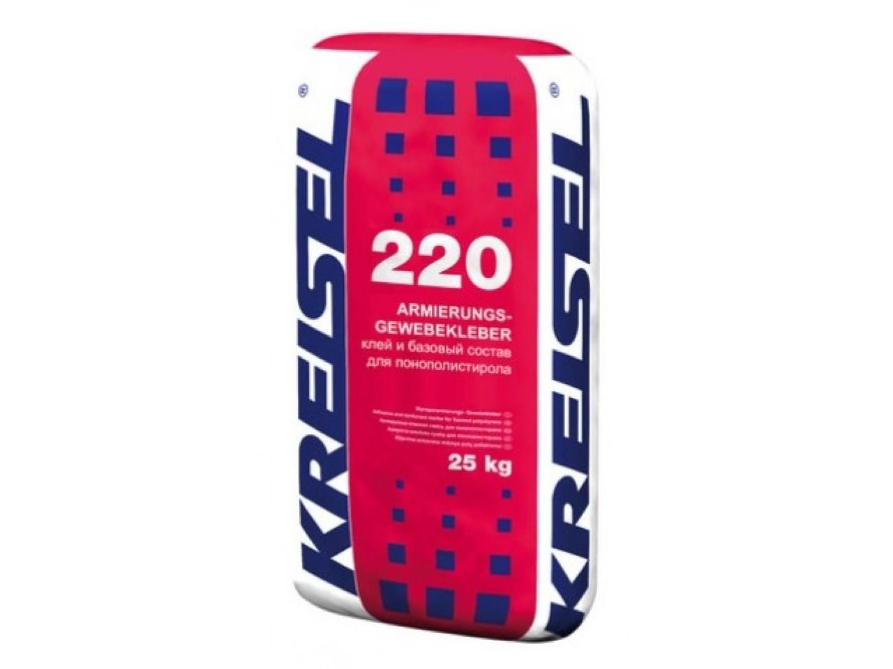 Клеевая смесь для приклеивания ППС Крайзель 220 (Kreisel 220) 25 кг (армирование)