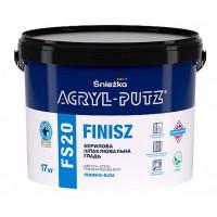 Финишная шпаклевочная гладь Sniezka Acryl-putz fs 20 finisz  белоснежная 17 кг