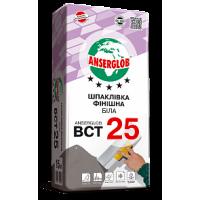 Шпаклевка цементная Anserglob BCT-25 финиш (0,5-3 мм) белая 15 кг